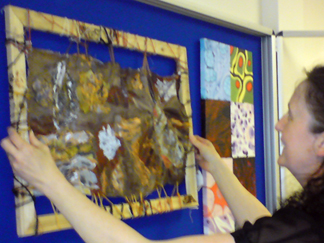 Art Teacher Sian Burns from Brymawr Foundation School