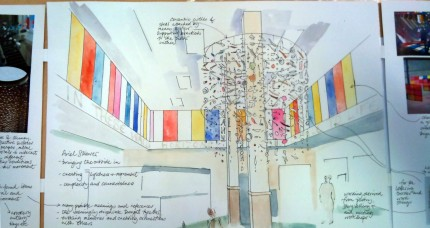 Design for new artwork by Tessa Waite - Nevill Hall Hospital