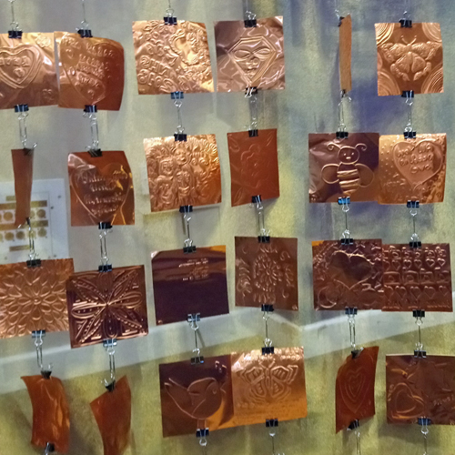 Tiles from the creative copper curtain - Believe, Lead Achieve