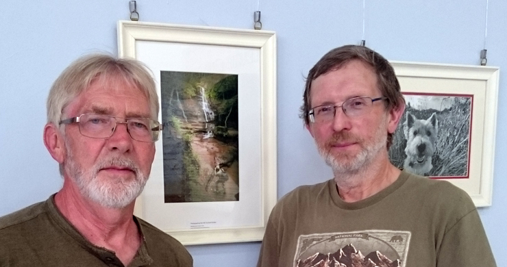 Roger Roberts and David Straker with their work