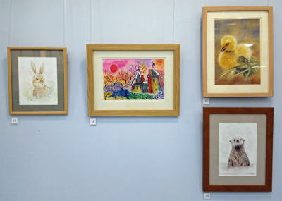 Artwork by Brynmawr Arts and Crafts Society at Nevill Hall Hospital